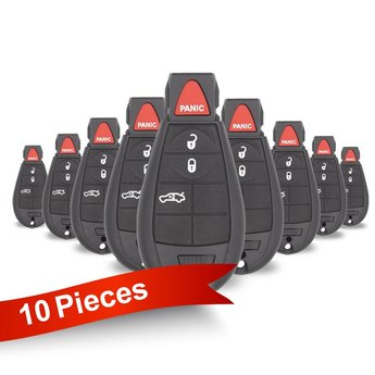 10 Pieces Of Jeep Dodge Chrysler Fobik Remote Key 3+1 Buttons...