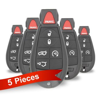 5 Pieces Of Chrysler Jeep Dodge Fobik Remote Key 6 Buttons 433MHz...
