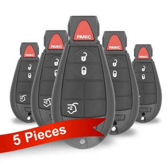 5 Pieces Of Jeep Dodge Chrysler Fobik Remote Key 3+1 Buttons...