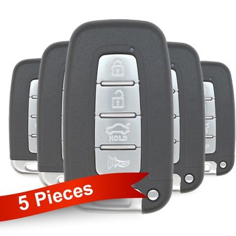 5 Pieces Of Hyundai KIA Smart Remote Key 4 Buttons 434MHz PCF7952...
