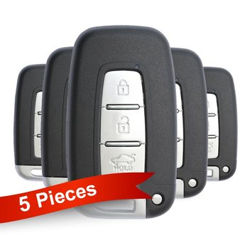 5 Pieces Of Hyundai KIA Smart Remote Key 3 Buttons 434MHz PCF7952...