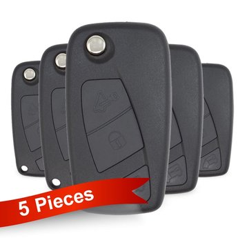 5 pieces Of Fiat Fiorino Flip Remote Key 3 Button 433MHz Delphi...