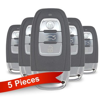5 Pieces Of Audi Smart Remote Key 3 Buttons 433MHz PCF7945AC...