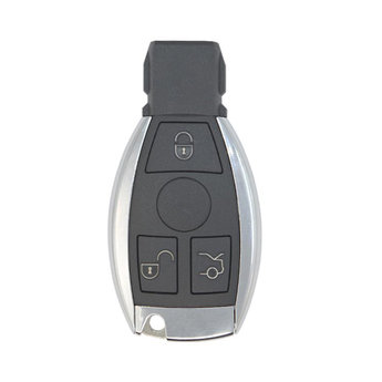 Mercedes BGA 3 Buttons Chrome Remote Key Cover With Blade