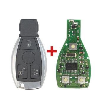 Mercedes BE Chrome 3 Buttons 315MHz Remote Key