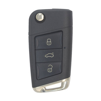 VW Modified 3 buttons Flip Remote Key Cover HU66 Blade