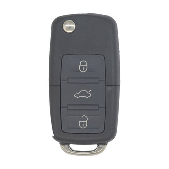 VW 3 buttons Flip Remote Key Cover with Battery Holder and Head...