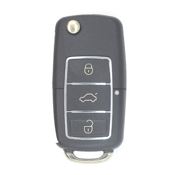 VW 3 buttons Chrome Remote Key Cover with Battery Holder and...