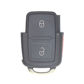 VW 3 Buttons Flip Remote Key Cover With Battery Holder