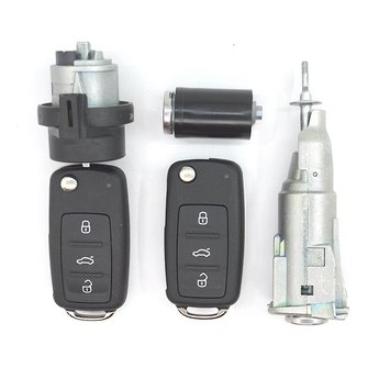 Skoda 2x 3 buttons 433MHz Flip Remote Key UDS Type With Lock...