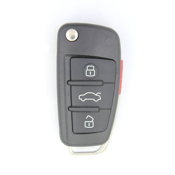 Audi 4 buttons Flip Remote Key Cover