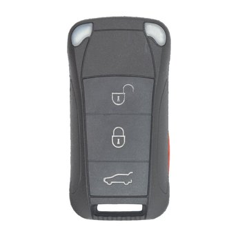 Porsche 3 Buttons Flip Remote Key Cover with side panic