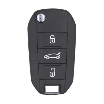 Peugeot Flip Remote Key 3 Buttons 433MHz AES Transponder with...