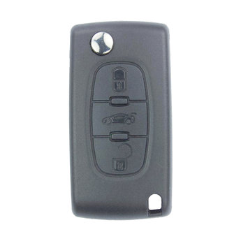 Peugeot 407 3 Buttons Flip Remote Key Cover
