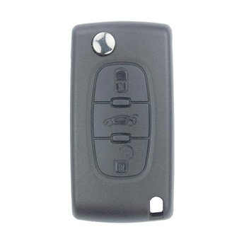 Peugeot 3 Buttons Flip Remote Key Cover without Battery Holder...
