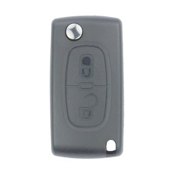 Peugeot 2 Buttons Flip Remote Key Cover without Battery Holder...