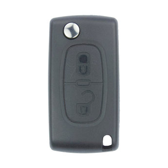 Peugeot 307 2 buttons Flip Remote Key Cover With Battery