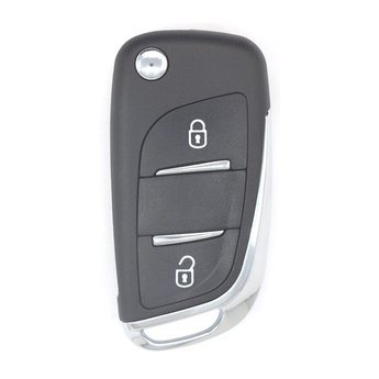 Peugeot 2 Buttons Flip Remote Key Cover with Battery Holder Modified...