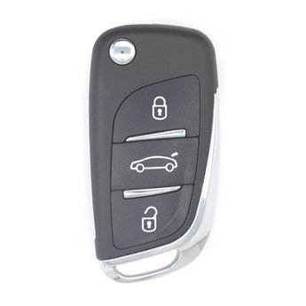 Peugeot 3 Buttons Flip Remote Cover with Battery Holder