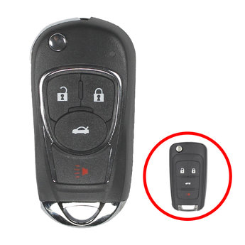 Chevrolet Flip Remote Key Shell 3+1 Button Modified Type