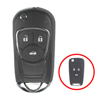 Chevrolet Flip Remote Key Shell 3 Button Modified Type