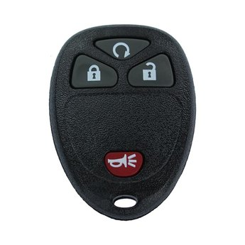 Chevrolet GMC 2008 4 Buttons Remote Key Cover Start Button Type...