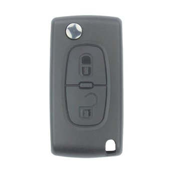 Citroen 2 buttons Flip Remote Key Cover with Battery Holder