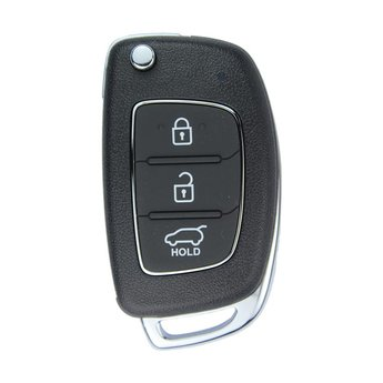 Hyundai Santa Fe 2013 3 Buttons Genuine Flip Remote Key without...