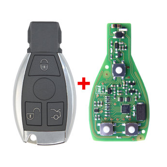 Xhorse Mercedes Chrome BGA Remote 3 button 433MHz -315MHz