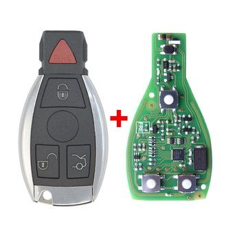 Xhorse Mercedes Chrome BGA  4 buttons 433-315MHz PCB With Aftermarket...